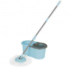 Esfregão MOR Mop Limpeza Prática - Turquesa Casa JHS