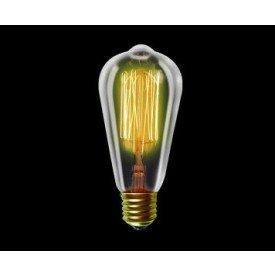 Lâmpada Filamento de Carbono Taschibra ST64 40W 220v Amarelo Casa JHS