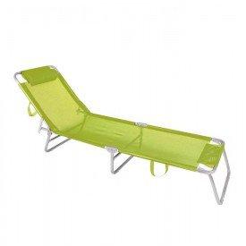 Cadeira Espreguiçadeira MOR Alumínio - Verde Limão Casa JHS