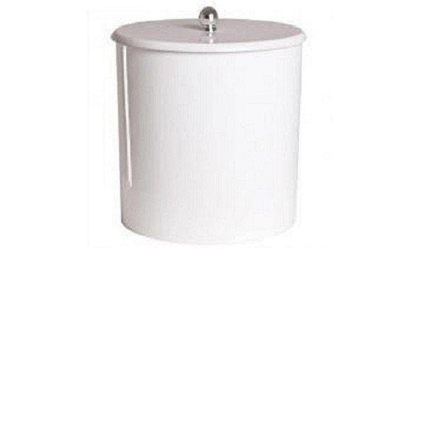 cesto de lixo laqueado branco