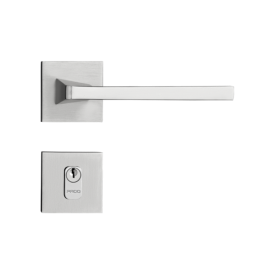 Fechadura Pado Externa Karli Cromo Acetinado 55mm Casa JHS