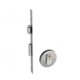 Fechadura Pado Externa Rolete Redondo 45mm - Inox escovado Casa JHS
