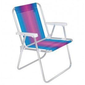 cadeira mor alta de aluminio de listra diversas cores casa jhs