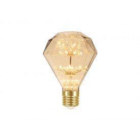 lampada led taschibra d95 fireworks vintage 2w autovolt ambar casa jhs